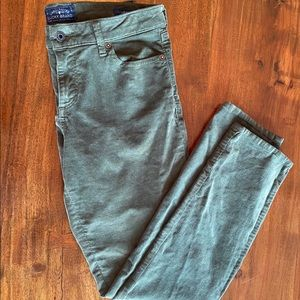 Lucky Brand Corduroy Green Jeans